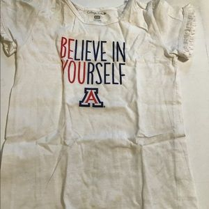 New Girls Believe in yourself white tee5-6T